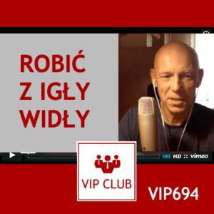 learn polish VIP694 robić z igły widły